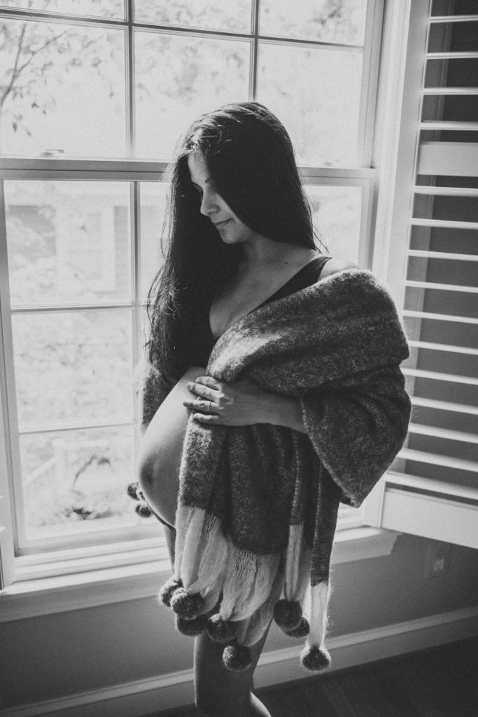 Best Family Newborn Maternity Photographer Washington DC washington dc area casual lifestyle in home maternity photography session