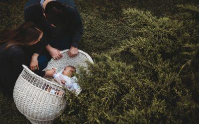 Backyard Newborn Photography Session Near Washington DC