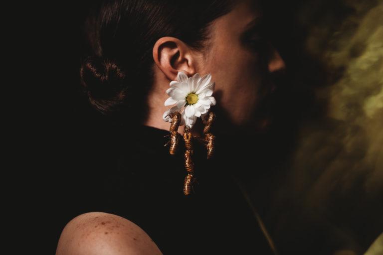 Brood X Cicada Jewelry Self Portraits