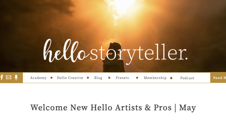 Allison Corinne Accepted as Hello Storyteller Pro Creative